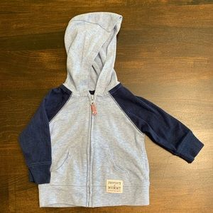 Carter's Blue Sports Zip Hoodie